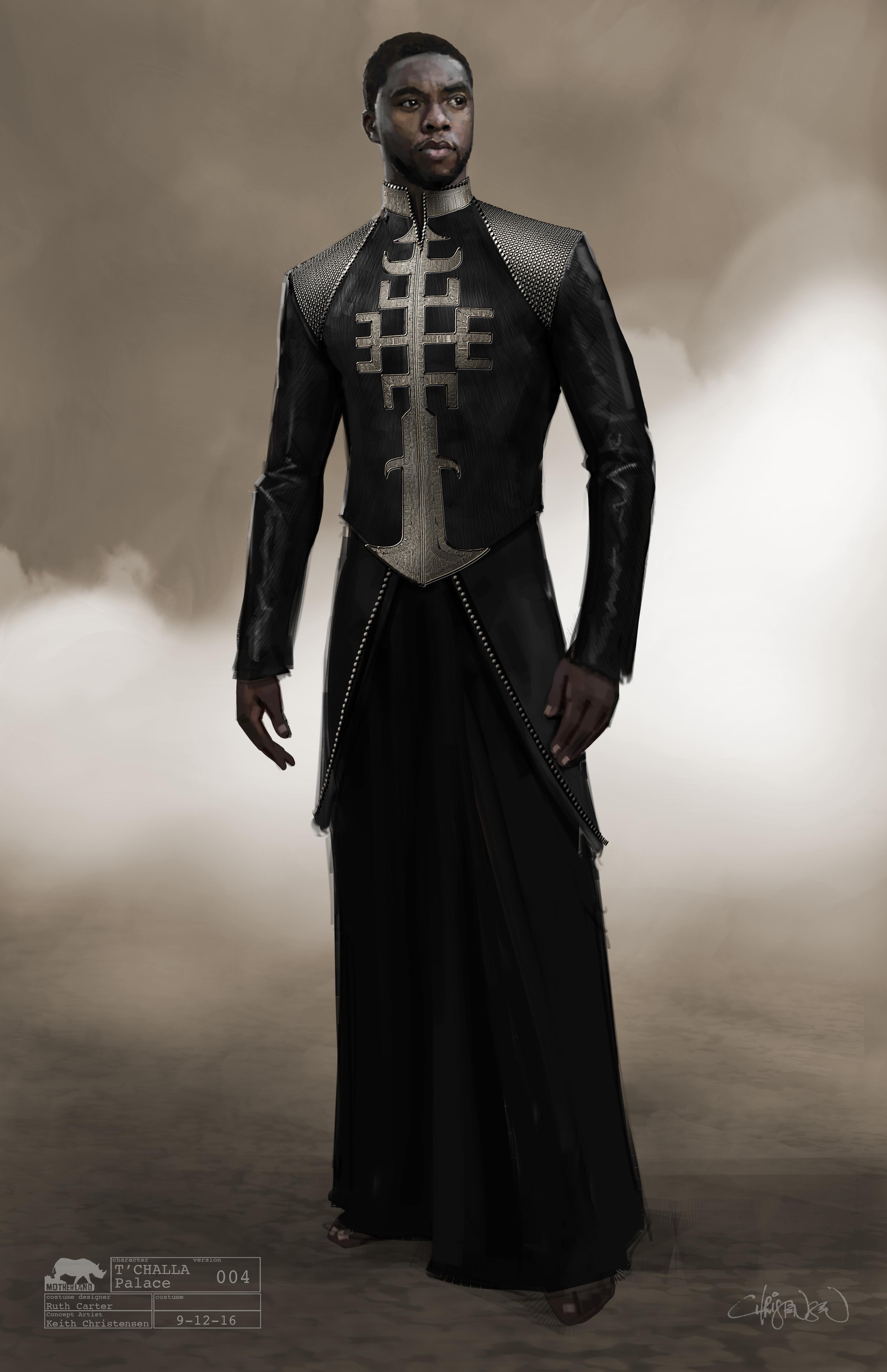 Marvel Studios\u0027 BLACK PANTHER..T\u0027Challa Conceptual Character and Costume  Design Sketch
