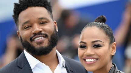 CANNES, FRANCE - MAY 10: Director Ryan Coogler and Zinzi Evans (R) attend the photocall for Rendezvous with Ryan Coogler during the 71st annual Cannes Film Festival at Palais des Festivals on May 10, 2018 in Cannes, France.