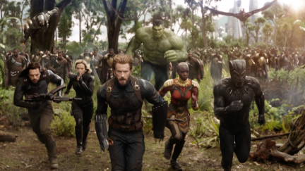 The cast of 'Avengers Infinity War' from Marvel Entertainment