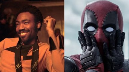 Donald Glover as Lando Calrissian in Solo: A Star Wars Story and Deadpool
