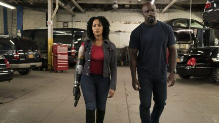 Simone Missick and Mike Colter in Luke Cage (2016)