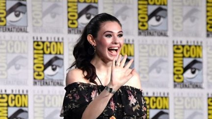 Nicole Maines walks onstage at the