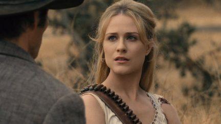 evan rachel wood plays dolores in season two of westworld.