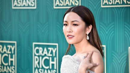 HOLLYWOOD, CA - AUGUST 07: Constance Wu attends the premiere of Warner Bros. Pictures'