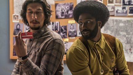 John David Washington and Adam Driver in BlacKkKlansman (2018)