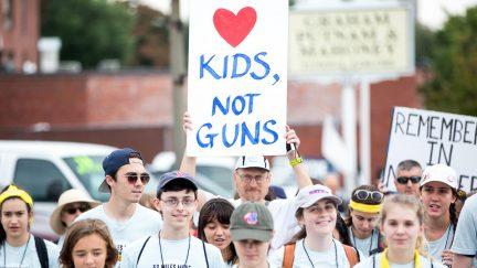 gun control school protest betsy devos