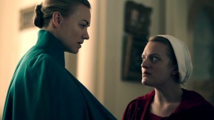 serena joy and offred in hulu's handmaid's tale