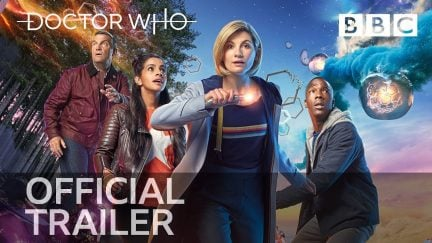 Jodie Whittaker's 13th Doctor and companions in Doctor Who
