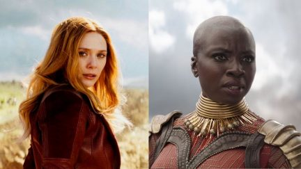 scarlet witch and okoye in Marvel's Avengers: Infinity War