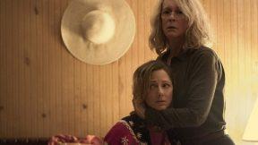 Jamie Lee Curtis and Judy Greer in Halloween (2018)