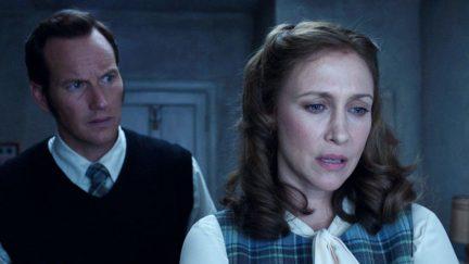 Ed Warren (Patrick Wilson) looks after his wife Lorraine (Vera Farmiga) in The Conjuring 2