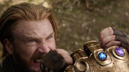 Chris Evans as Steve Rogers/Captain America in Avengers: Infinity War