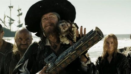 Geoffrey Rush as Barbossa in Pirates of the Caribbean