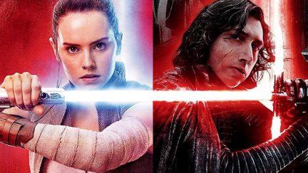 Rey and Kylo Ren in 'Star Wars: The Last Jedi'