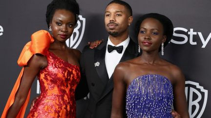 Danai Gurira, Michael B. Jordan, and Lupita Nyong'o at the 2019 Golden Globes