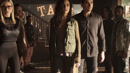 Kady stands in front of Quentin in The Magicians episode