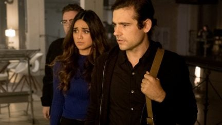 Summer Bishil as Margo Hanson, Jason Ralph as Quentin Coldwater in The Magicians.