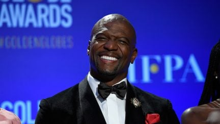 terry crews smiling at the golden globe award nomination announcements