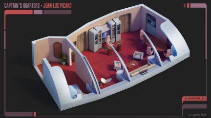 Jean-Luc Picard's Captains quarters