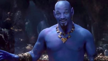 Will Smith as the Genie in live-action Aladdin.