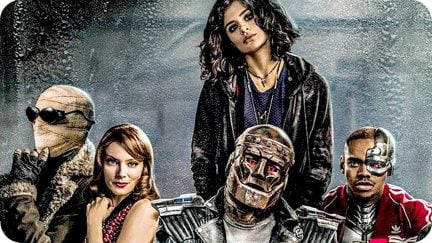 The Doom Patrol cast sits together in a promo image for the trailer.