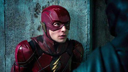 Ezra Miller plays Barry Allen/The Flash in DCEU's Justice League.