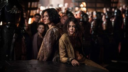 Indira Varma and Rosabell Laurenti Sellers in Game of Thrones (2011)