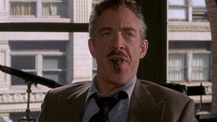 J.K. Simmons plays J. Jonah Jameson in the Raimi Spider-Man films.