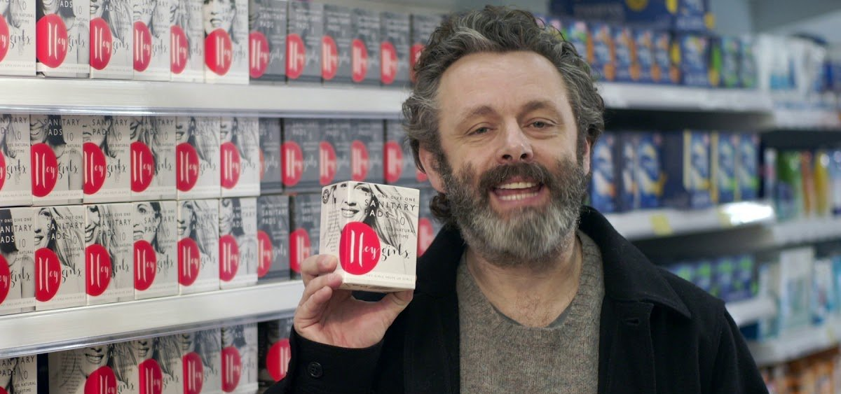 Michael Sheen in #Pads4Dad Educates Fathers on Periods