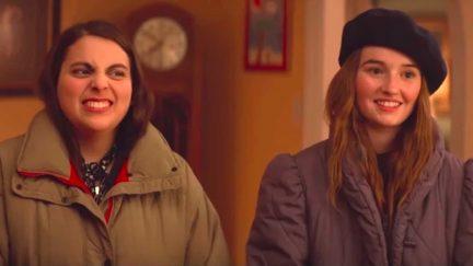 Amy (Kaitlyn Dever) and Molly (Beanie Feldstein) in Booksmart.