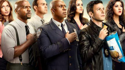 The cast assembles for Brooklyn Nine Nine season six
