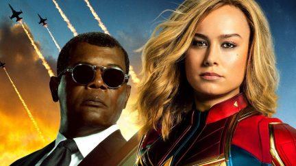 Carol Danvers and Nick Fury in Captain Marvel