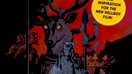 Hellboy comic cover.