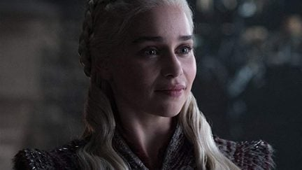 Closeup of Daenerys Targaryen in HBO's Game of Thrones.