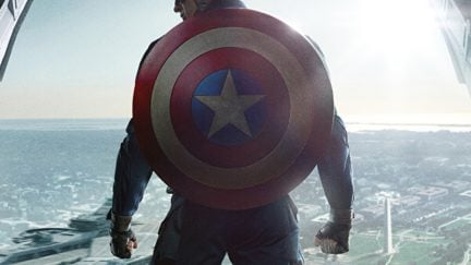 The poster for Captain America: The Winter Soldier.