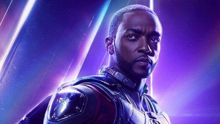 Sam Wilson on the poster for Avengers: Infinity War.