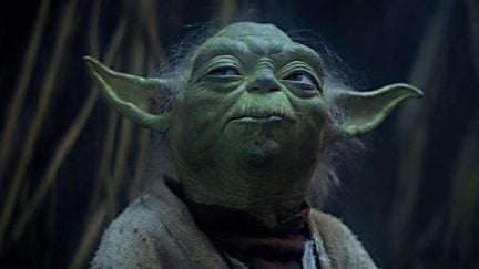 Yoda ponders the Force in Star Wars: The Empire Strikes Back.