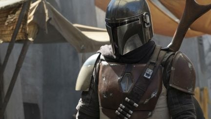 the mandalorian is the new star wars show starring pedro pascal on disney+..