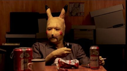 tommy kang plays pikachu as mccoughnaghy in true detective pikachu.