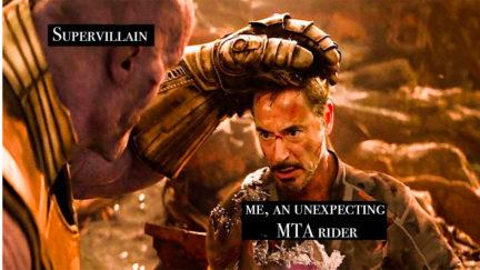 Thanos as a supervillain, Iron Man as a New Yorker