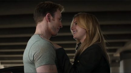 Steve Rogers and Sharon being cute but sadly we have to watch
