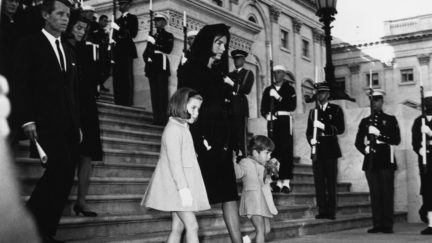 Jackie Kennedy and JFK's funeral.
