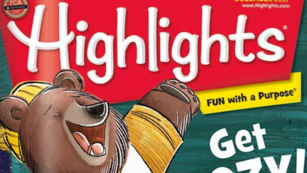 The cover of a 2017 issue of Highlights, a childhood favorite.