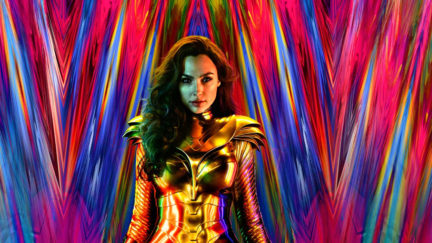 Diana readies herself for battle in the new poster for Wonder Woman 1984.