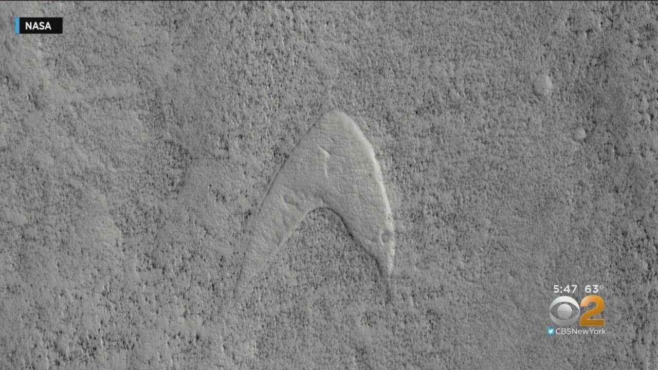 Things We Saw Today: The Star Trek Starfleet Logo Shows Up on Mars
