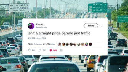Straight pride parade joke tweet