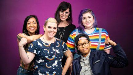 From left to right: Sana Amanat, Judy Stephens, Tini Howard, Vita Ayala, Leah Williams