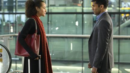 Maya (Nathalie Emmanuel) and Kash (Nikesh Patel)