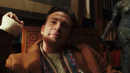 Chris Evans being a snack in Knives Out