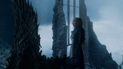 Emilia Clarke in Game of Thrones as Dany in 'The Iron Throne'
